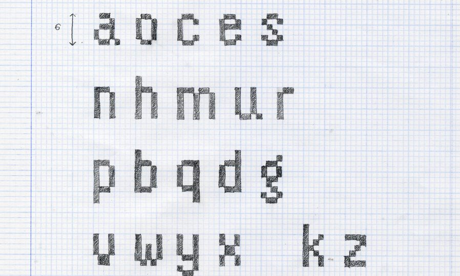 Didáctica de la Tipografía (III): Diseño de una pixelfont