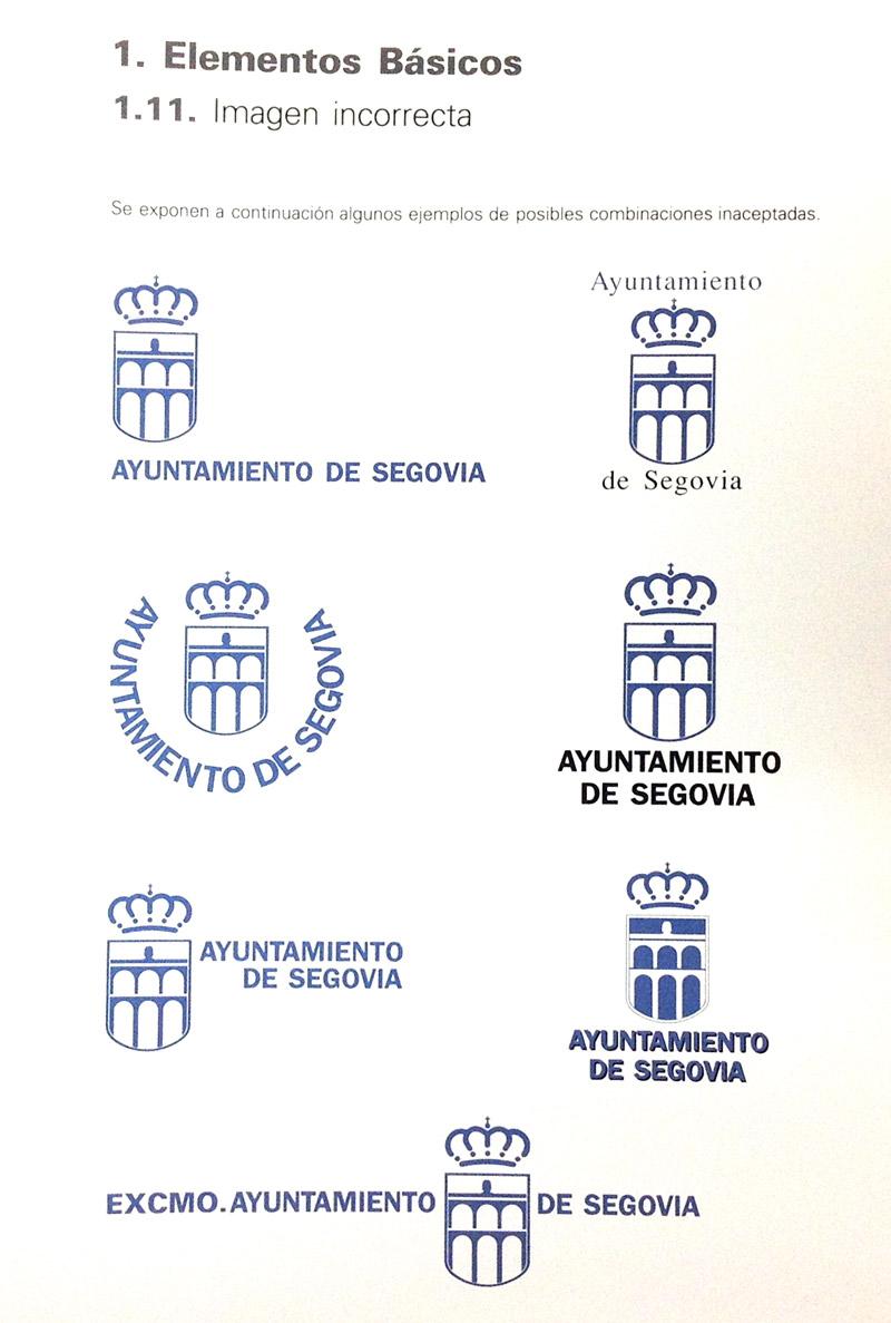 Usos incorrectos logotipo del Ayto de Segovia