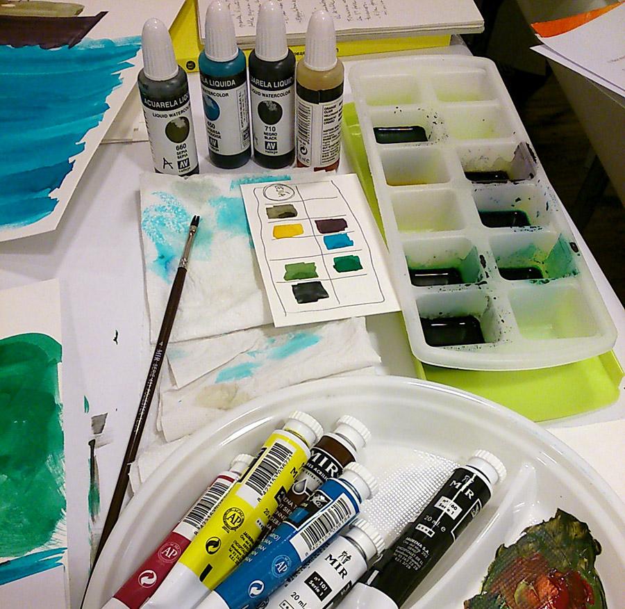 La dinámica de los talleres y cursos permite conocer técnicas y métodos de trabajos de otros profesionales de la ilustración