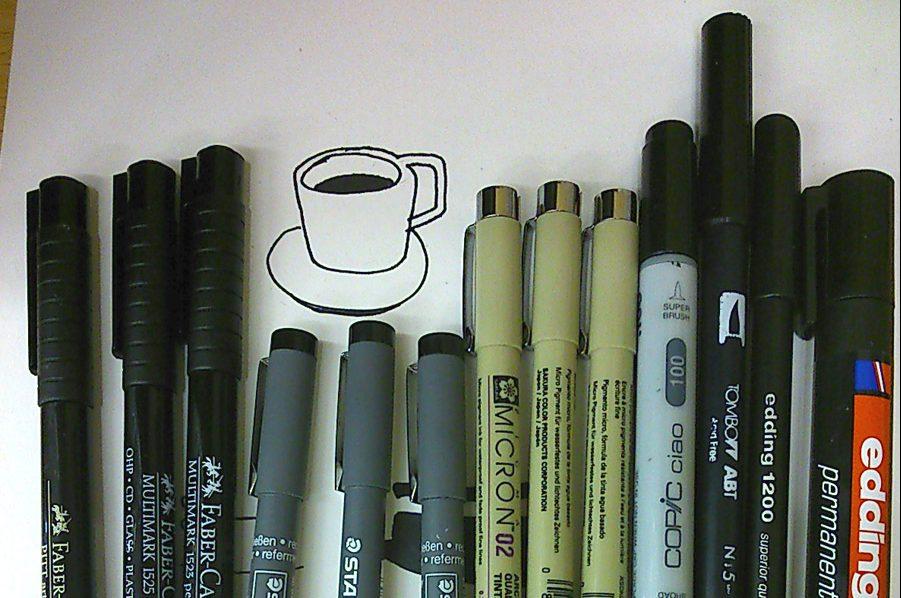 Técnicas de ilustración: el blanco y negro del lápiz, el rotulador y la tinta