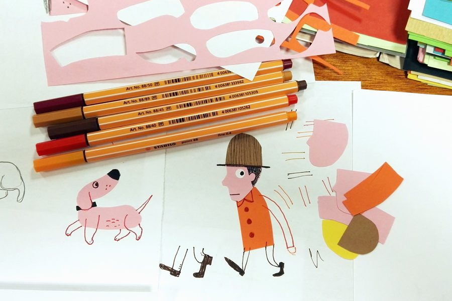 Técnicas de ilustración: diseñar ilustraciones con tijeras, pegamento… y lo que surja